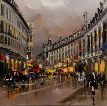 KG Paris 05 with palette knife Oil Paintings
