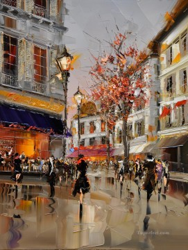 KG Paris 15 with palette knife Oil Paintings