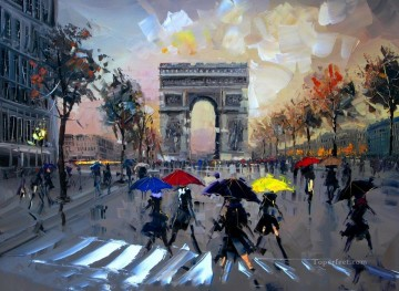 KG Paris 20 with palette knife Oil Paintings