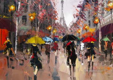 KG Paris 25 with palette knife Oil Paintings