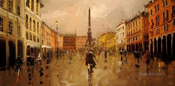 KG Piazza Narvona with palette knife Oil Paintings