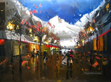 knife Art Painting - Whistler Nightlife KG with palette knife