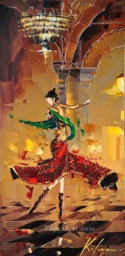 dancing girl KG by knife Oil Paintings
