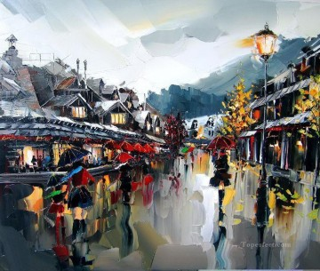 Impressionism Painting - kal gajoum paris quebec with palette knife