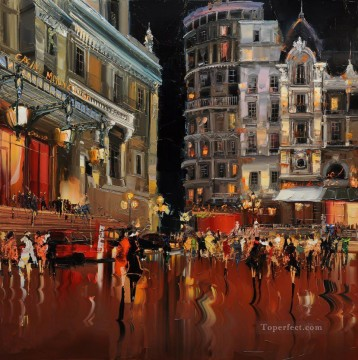 KG Spirit of Monte Carlo with palette knife Oil Paintings