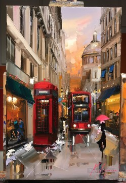 By Palette Knife Painting - LONDON KG by knife