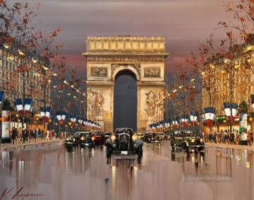 Arc de Triomphe KG by knife Oil Paintings