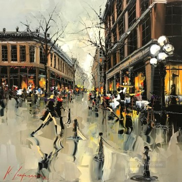 VANCOUVER 3 KG by knife Oil Paintings