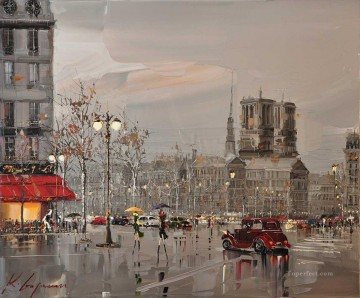 Impressionism Painting - cityscape KG by knife