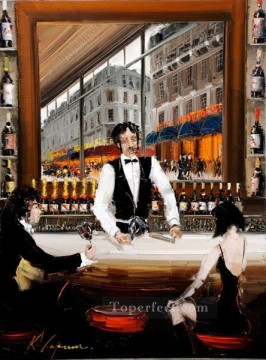 Wine Painting - wine bar 3 KG by knife