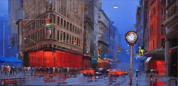 Artworks in 150 Subjects Painting - Flatiron District New York KG by knife