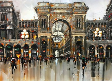 Milano Duomo KG by knife Oil Paintings