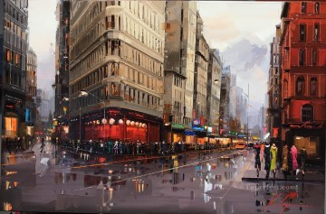 Artworks in 150 Subjects Painting - New York 1 KG by knife