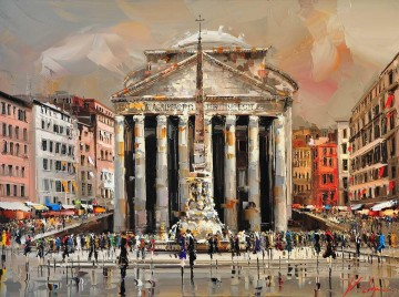 Artworks in 150 Subjects Painting - Rome KG by knife
