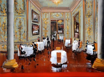cafe restaurant 2 KG by knife Oil Paintings