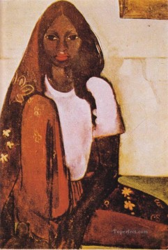 Popular Indian Painting - amrita sehr gil the child bride 1936 Indian