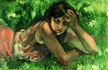 Popular Indian Painting - Amrita Sher Gil Hungarian gypsy girl Indian