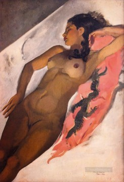 Popular Indian Painting - Amrita Sher Gil Nude Indian