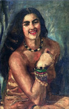 Popular Indian Painting - Amrita Sher Gil Self portrait Indian
