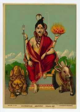 Popular Indian Painting - Ardhanarishvara Indian