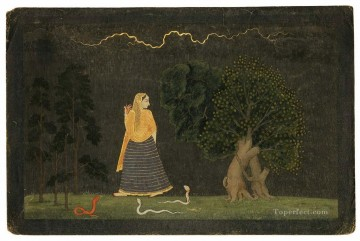 Popular Indian Painting - Family of Nainsukh Abharisarika Nayika Indian