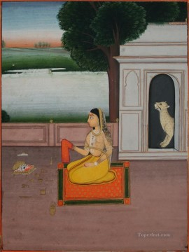 Popular Indian Painting - Folio from a ragamala Indian
