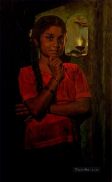 Indian girl 20 Oil Paintings