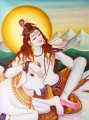 Lord Shiva Relieving the World of Its Poison Indian