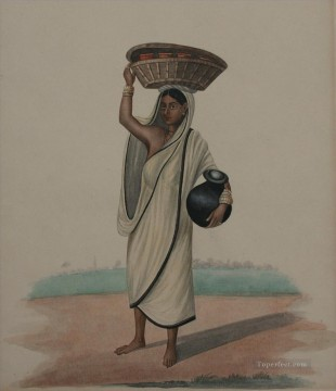 Popular Indian Painting - Milk woman from a wealthy European household Indian