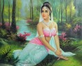 Shakuntala Waiting for Her Beloved king Indian