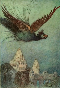 Tales Oil Painting - Warwick Goble Falk Tales of Bengal 13 Indian