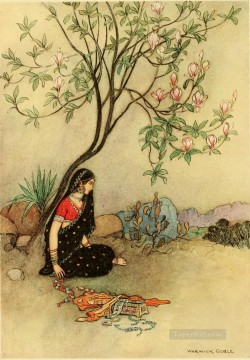Popular Indian Painting - Warwick Goble The Field of Indian