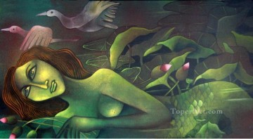 Maid Works - mermaid in lotus pond iii 2008 Indian