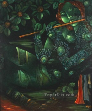 Popular Indian Painting - untitled acrylic on canvas Indian