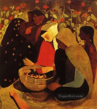 Popular Indian Painting - village Amrita Shergil Indian