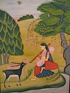 Popular Indian Painting - Kangra Art India Miniature