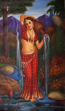 Popular Indian Painting - Lost in the Thoughts India