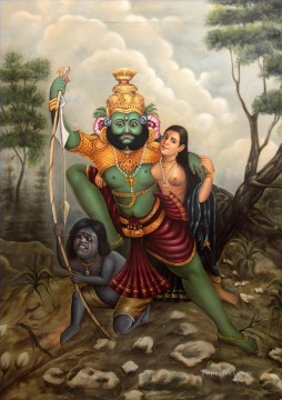 Popular Indian Painting - The Abduction India