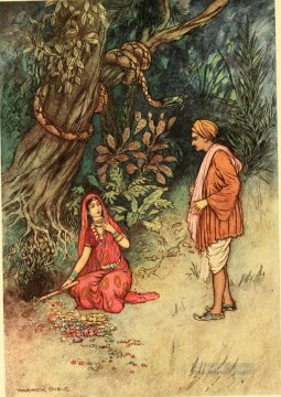 Popular Indian Painting - Warwick Goble Falk Tales of Bengal 01 India