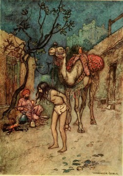 Popular Indian Painting - Warwick Goble Falk Tales of Bengal 03 India