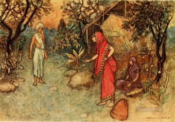 Tales Oil Painting - Warwick Goble Falk Tales of Bengal 04 India