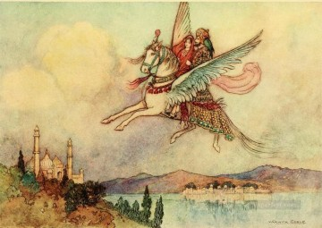 Tales Oil Painting - Warwick Goble Falk Tales of Bengal 08 from India