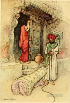 Tales Oil Painting - Warwick Goble Falk Tales of Bengal 12 from India