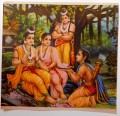 Ram with his Wife Sita and Brothers Laxman and Bharat from India
