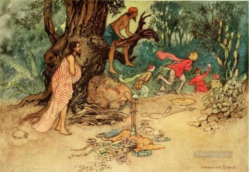 Tales Oil Painting - Warwick Goble Falk Tales of Bengal 02 from India
