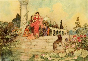 Tales Oil Painting - Warwick Goble Falk Tales of Bengal 10 from India