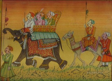 Popular Indian Painting - procession with elephant from India