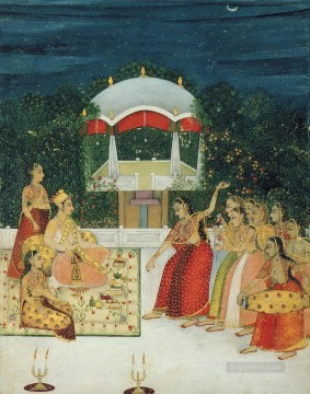 Popular Indian Painting - terrace small from India