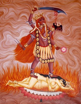 Popular Indian Painting - Manifestation of Goddess Kali as Tara from India