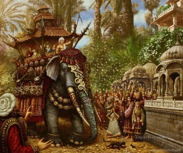 Popular Indian Painting - Rat Elephant from India